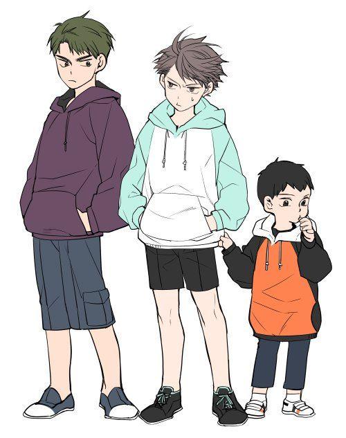 haikyuu!! | hq | young ushijima wakatoshi | young oikawa tooru | young kageyama tobio