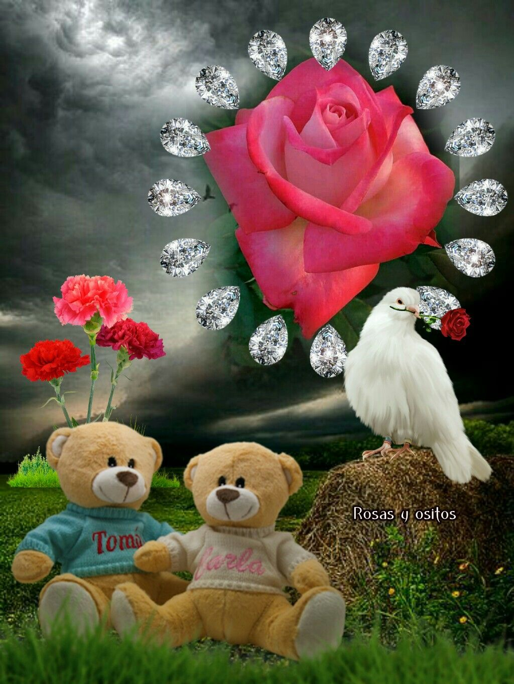 Poemas De Amor Osos Rosas Y Corazones Pin De M Consuelo Serrano G En Hermoso Corazones De Amor
