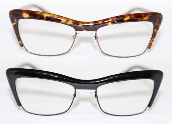 Cat Eye Brille Nerd Brille Übergroß 50er Jahre Klarglas Pinup schwarz braun 894 XPbtVPmY