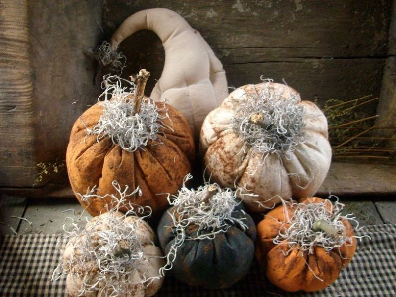 Primitive fall Gourds and Pumpkin Gathering.