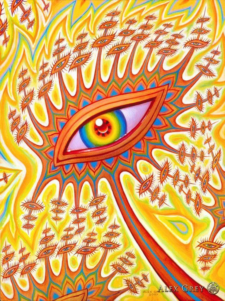 Poster Trippy Alex Grey Wall Poster Print Home Decor Wall Poster ...