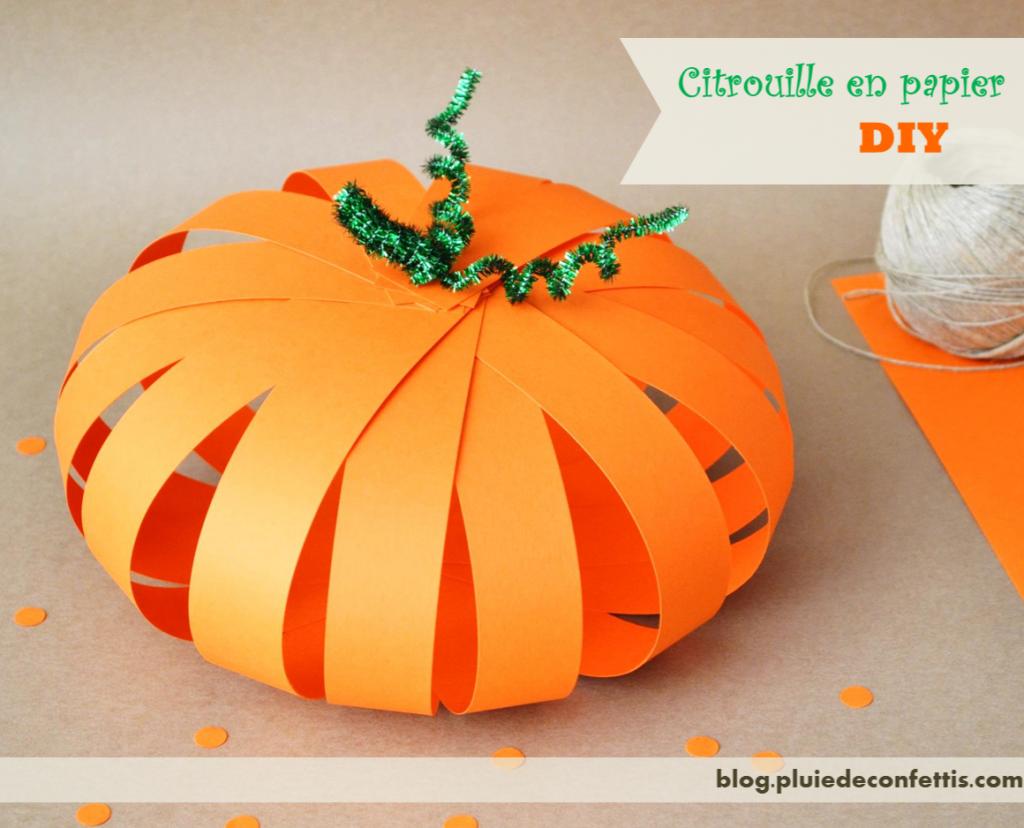 citrouille en papier Citrouille, Bricolage enfants halloween