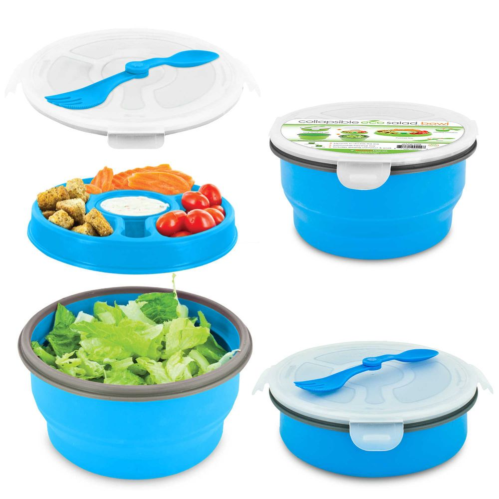 Charmant Smart Planet Eco Deluxe Salad Bowl To Go Food Container Collapsible Portable