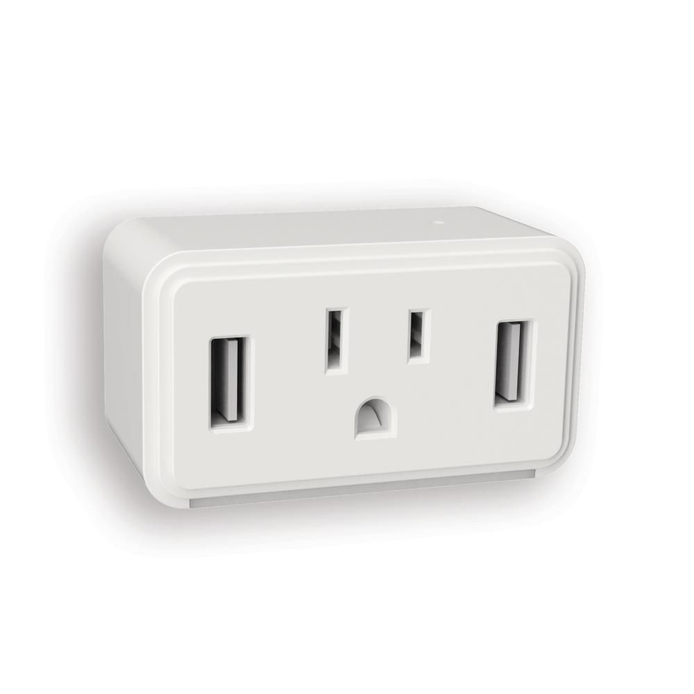 Battery Powered Outlet >> Westek White Cube Led Night Light With Power Outlet And Duel