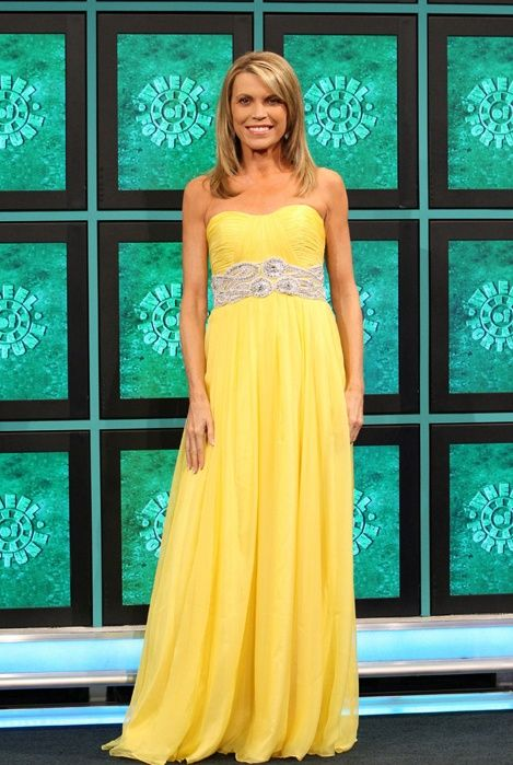vanna white, gown, yellow dress, fashion, celebrity | TV Stars and ...