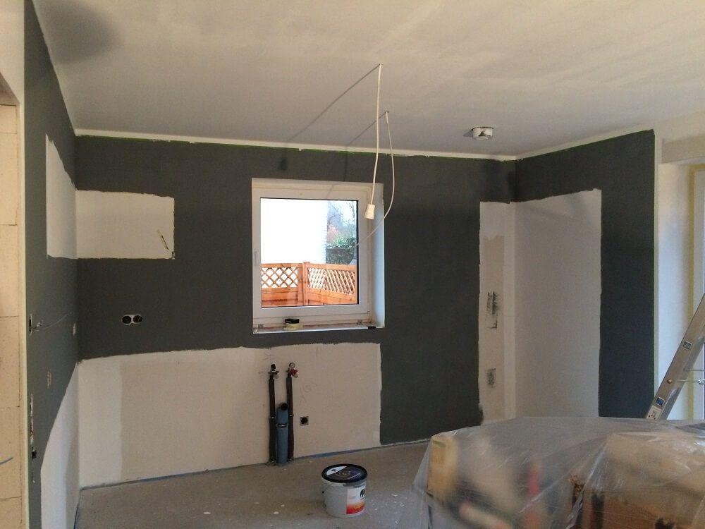 Die Küche Streichen   Wände Grau Gestrichen In Der Küche
