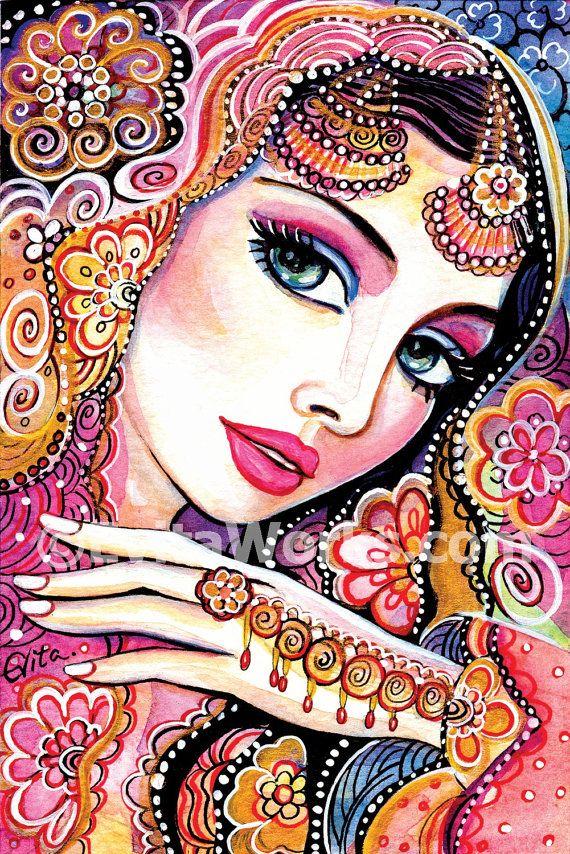 indische Braut Kunst die schöne Inderin Malerei von EvitaWorks - möbel martin küchen angebote