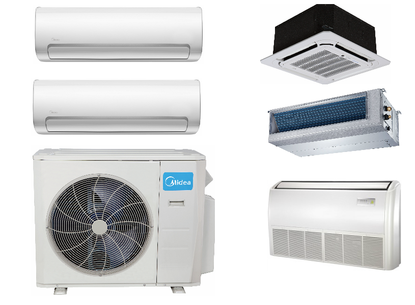 Midea 2 18000 Btu In Minisplitwarehouse Com We Have A Variety Of Split Air Conditioners For Sale Midea 2 Ductless Ductless Mini Split Heat Pump Air Conditioner