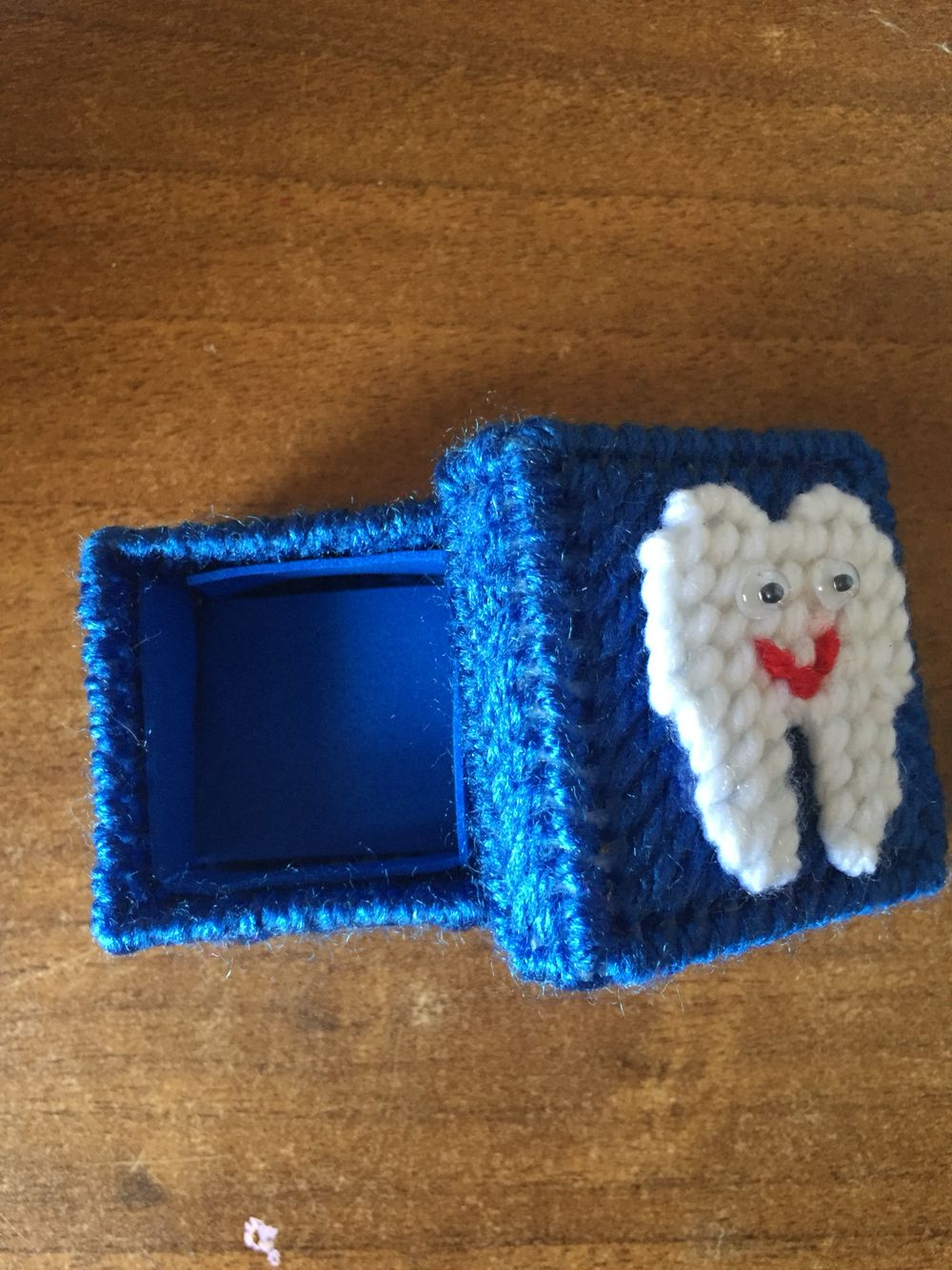 Tooth fairy box craft - Plastic Canvas Tooth Fairy Box
