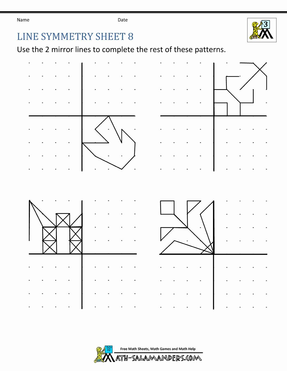 Coloring Activities For 8 Year Olds Elegant Symmetry Worksheets Symmetry Worksheets Symmetry Math Symmetry