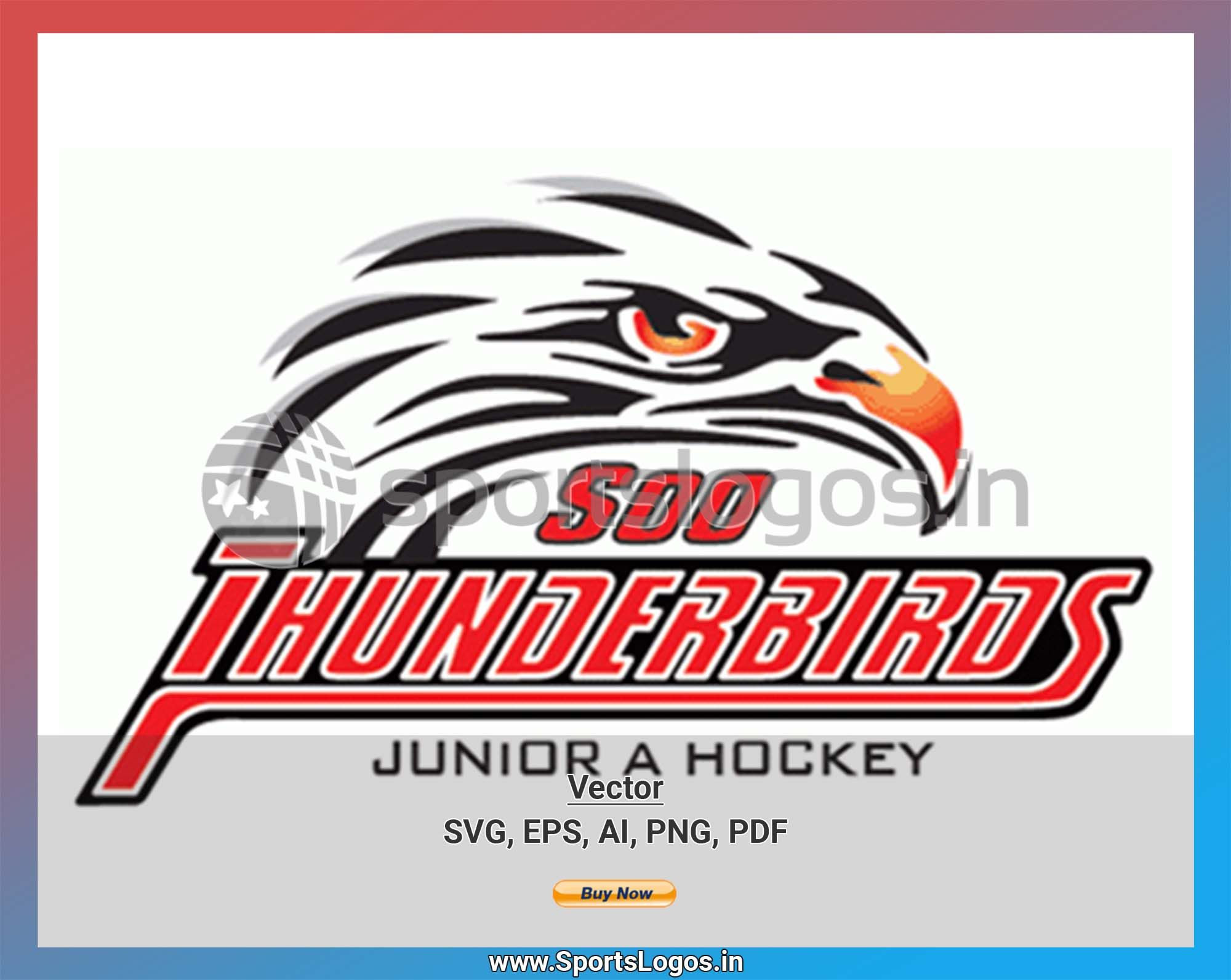 Soo Thunderbirds Hockey Sports Vector Svg Logo In 5 Formats Spln004053 Sports Logos Embroidery Vector For Nfl Nba Nhl Mlb Milb And More Embroidery Logo Sports Logo Sport Hockey