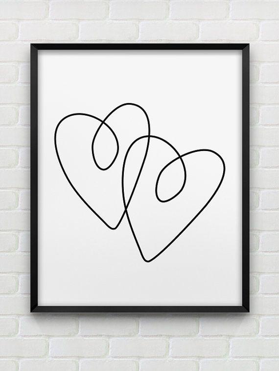 Modern Wall Art 3 Hearts Minimalists Women/'s Fashion Wall Art Love Hearts Poster