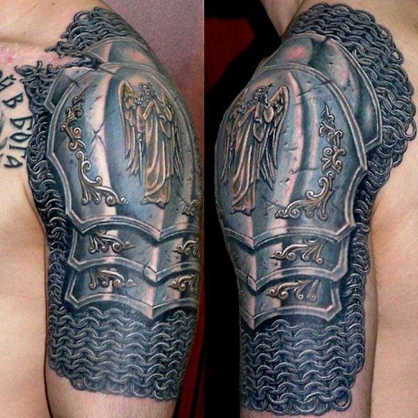 Dmitry Bronya Tattoos Armor Tattoo Mens Shoulder Tattoo Tattoos Limited time sale easy return. pinterest