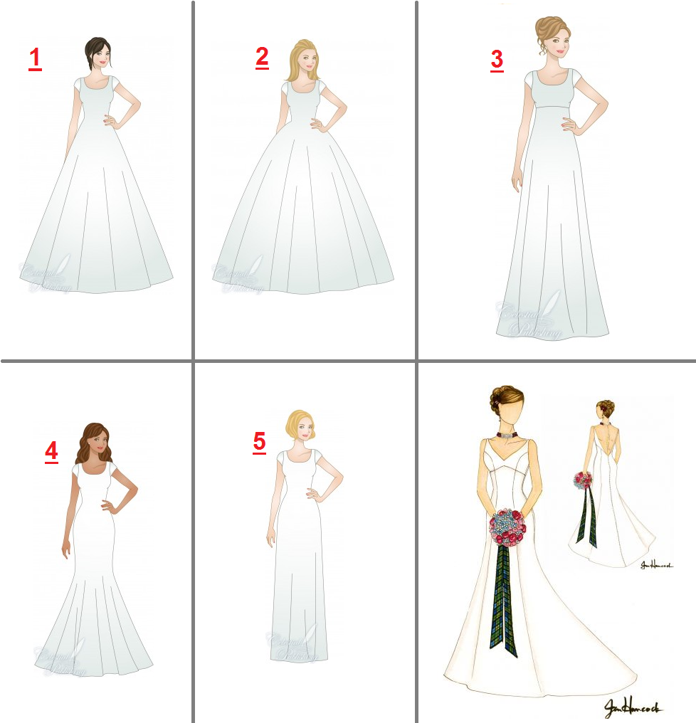 Wedding Gown Shapes