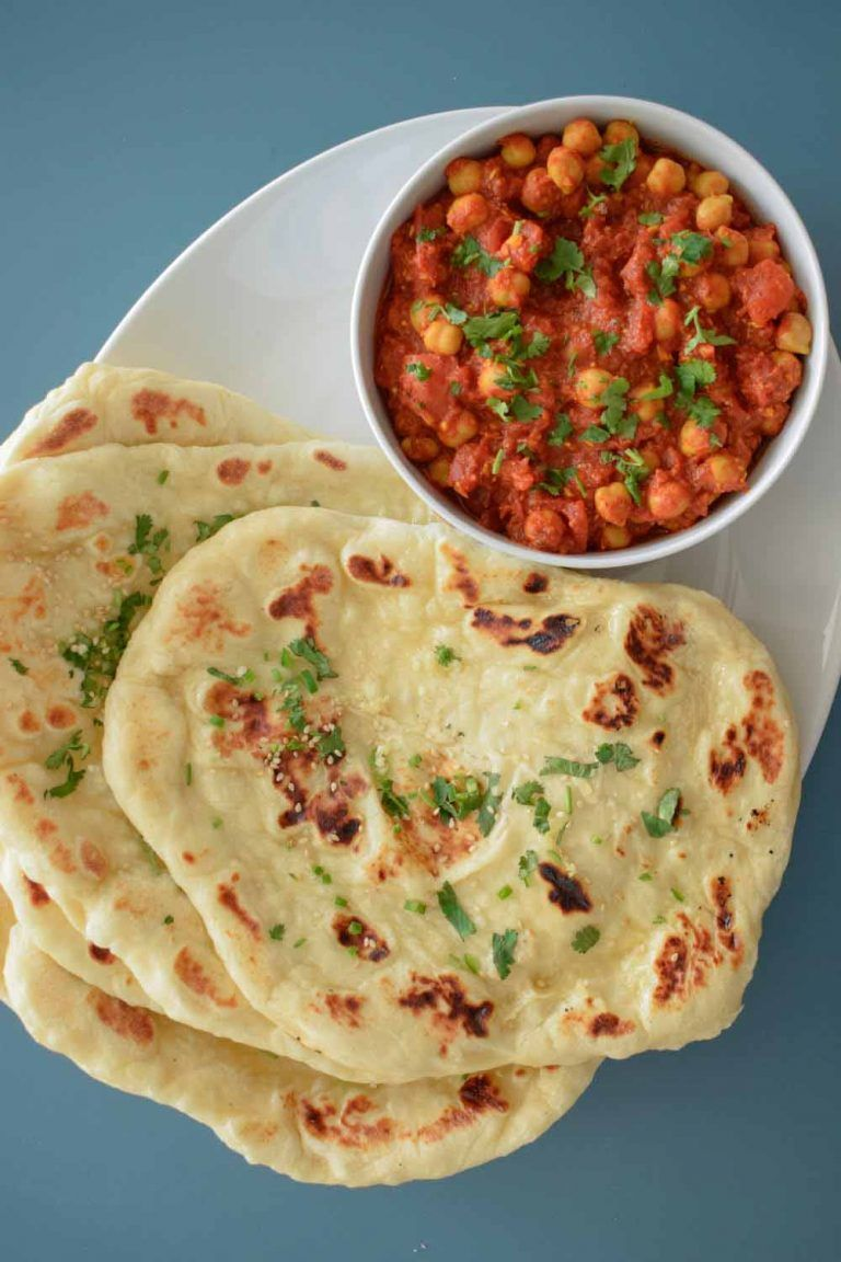 Homemade Naan Bread Restaurant Style Recipe Indian Food