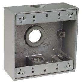 Reddot 31 3 8 Cu In 2 Gang Old Work Metal Electrical Box With Images Outdoor Weatherproof Metal Electrical Box Weatherproofing