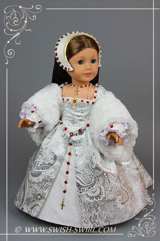 Catherine Howard Tudor gown for American Girl dolls – Swish and Swirl® #americandolls
