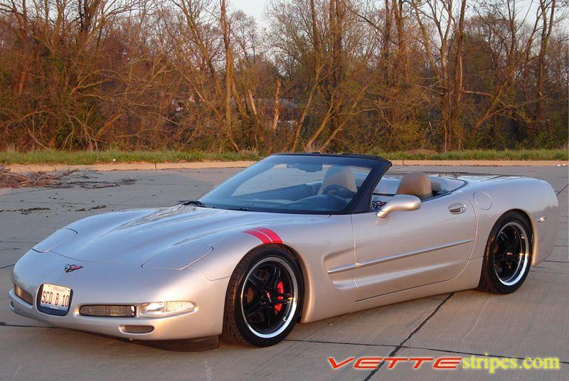 C5 Corvette Gs Fender Hash Mark Stripes Vettestripes Com Corvette Chevrolet Corvette Corvette C5