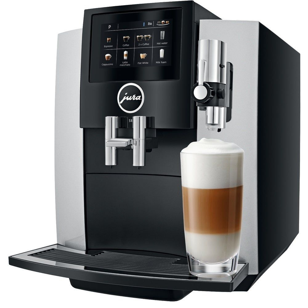 Jura S8 Automatic Coffee Machine Moonlight Silver In 2020 Jura Coffee Machine Automatic Coffee Machine Espresso Machine