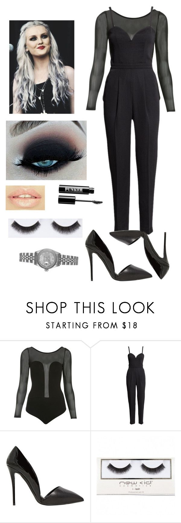 """Untitled #234"" by justddhaha ❤ liked on Polyvore featuring Miss Selfridge, H&M, Giuseppe Zanotti, New CID Cosmetics, Ardency Inn and Rolex"