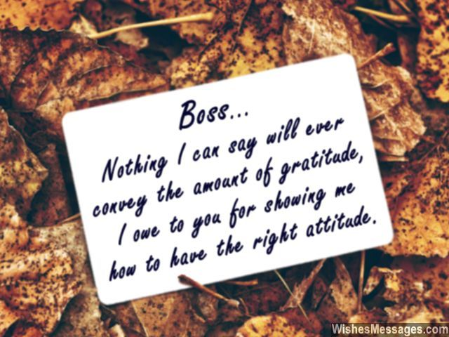 Inspirational Quote For Boss To Say Thank You Gratitude  Quotes