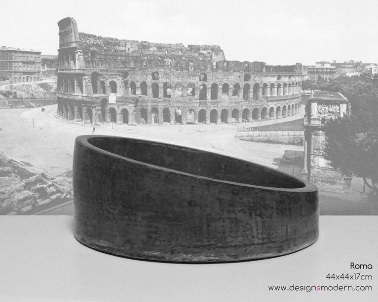 Roma lavabo da appoggio design salvaspazio lavabi for Arredo bagno rimini
