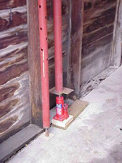 How To Lift An Old Wood Garage And Replace Sill Plate Jack To Raise Wall Beside Column Used To Support Wall Garage Walls Garage Floor Paint Home Improvement