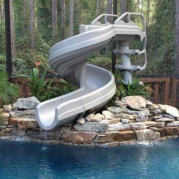 G Force 360 Degree Pool Slide G4c Backyard Pool Landscaping Pool Landscaping Inground Pool Slides