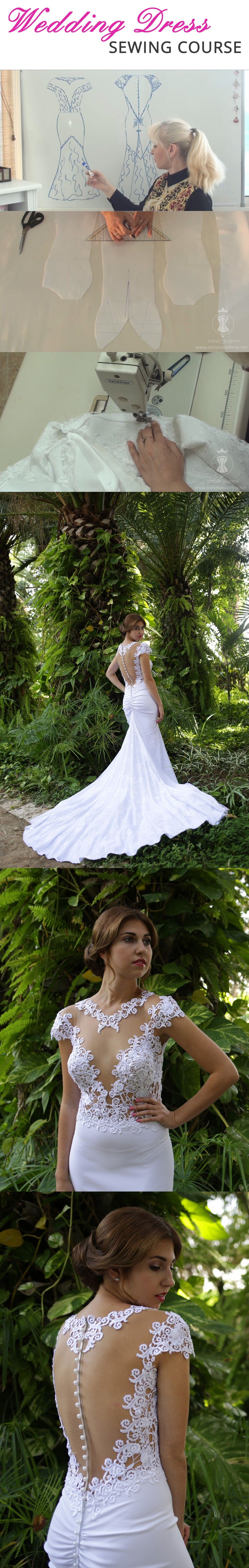 Wedding dress sewing course. How to make a wedding dress