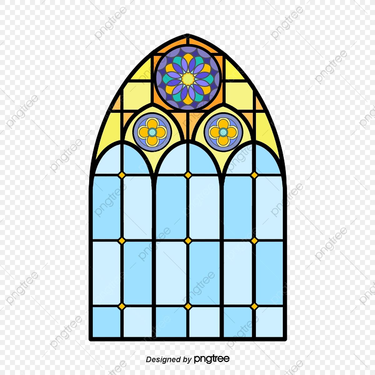 Multicolored Classical Gothic Painted Glass Church Classical Gothic Stained Glass Png Transparent Clipart Image And Psd File For Free Download Geometric Background Clipart Images Painting