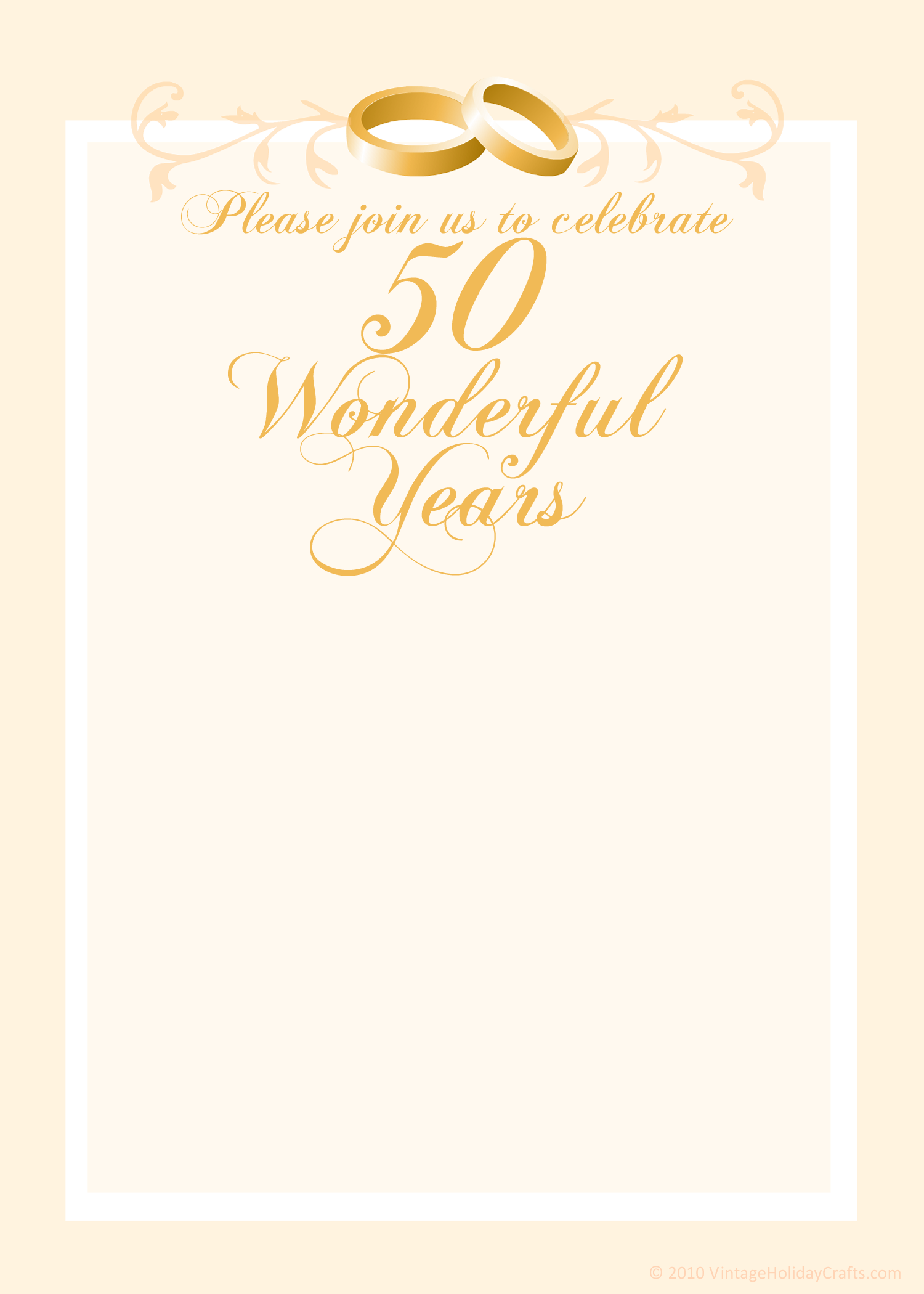 Free 50th Wedding Anniversary Invitations Templates 50th Anniversary Invitations 50th Wedding Anniversary Invitations Anniversary Invitations