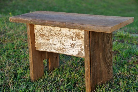 New Orleans Reclaimed Wood Bench / Stool By RestorationHarbor