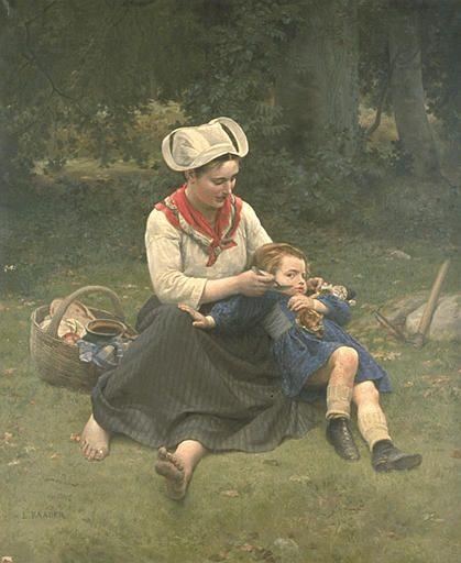 """ANTIGNA Alexandre, """"Paysanne bretonne"""",  19e siècle, Bordeaux ; musée des beaux-arts"""