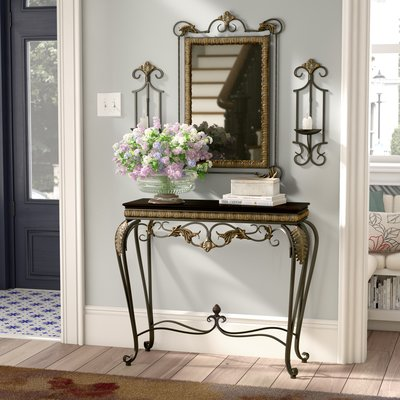 Alcott Hill Byrd 4 Piece Console Table And Mirror Set Entry Console Table Mirrored Console Table Console Table Hallway table and mirror sets