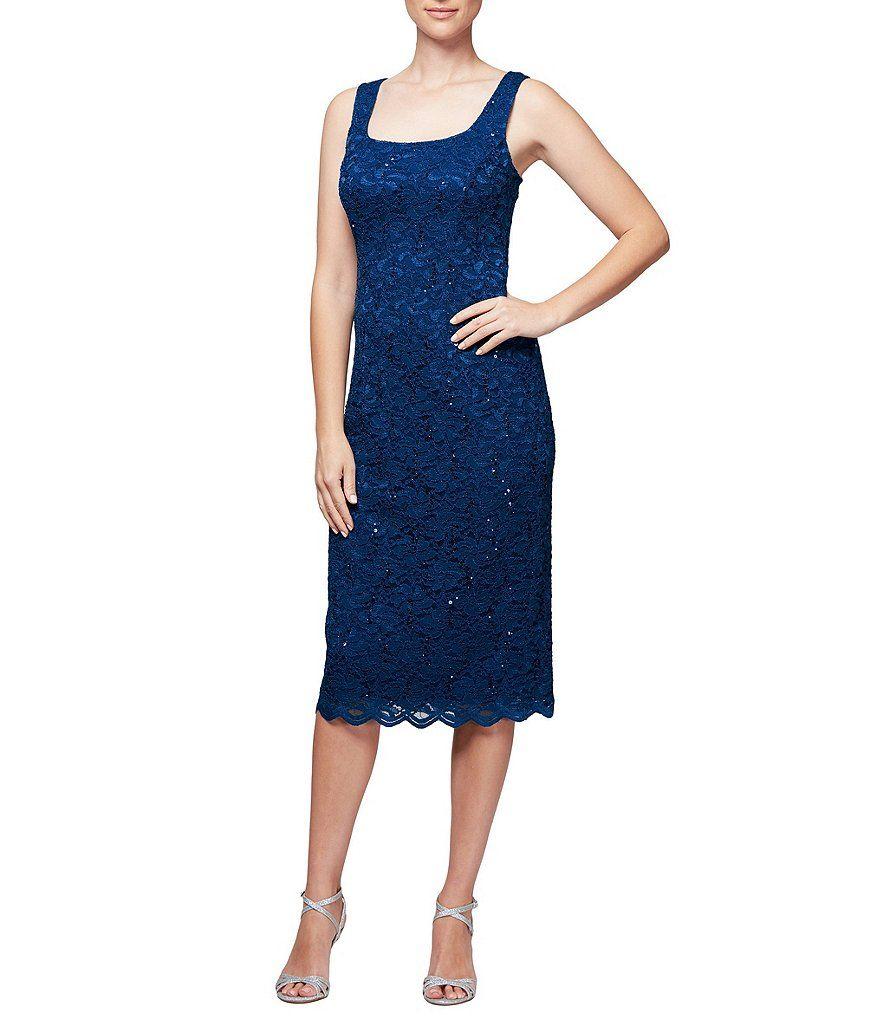 00a5422119e Alex Evenings Scalloped Lace Midi Jacket Dress