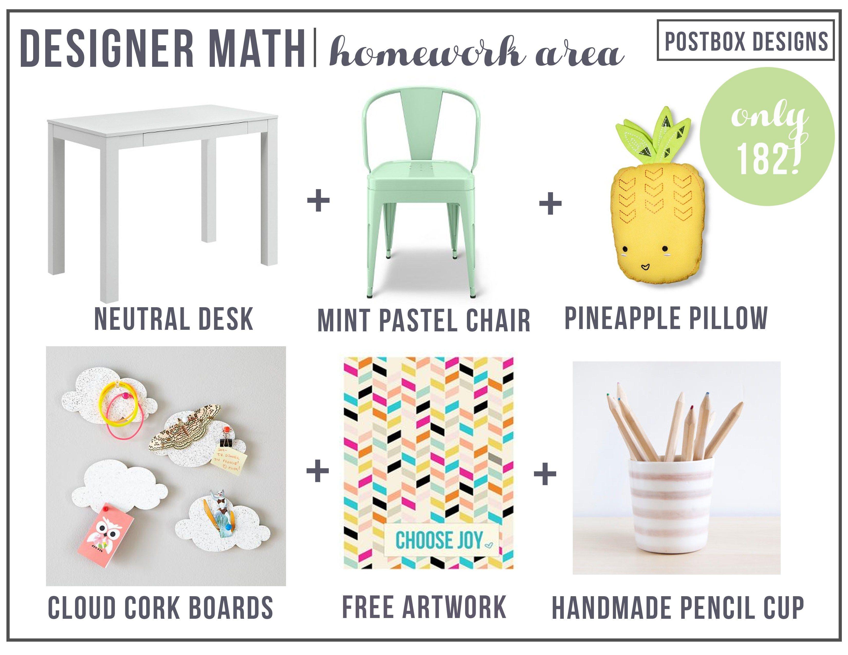 Designer Math Monday 182 Pretty Pastel Kid S Homework