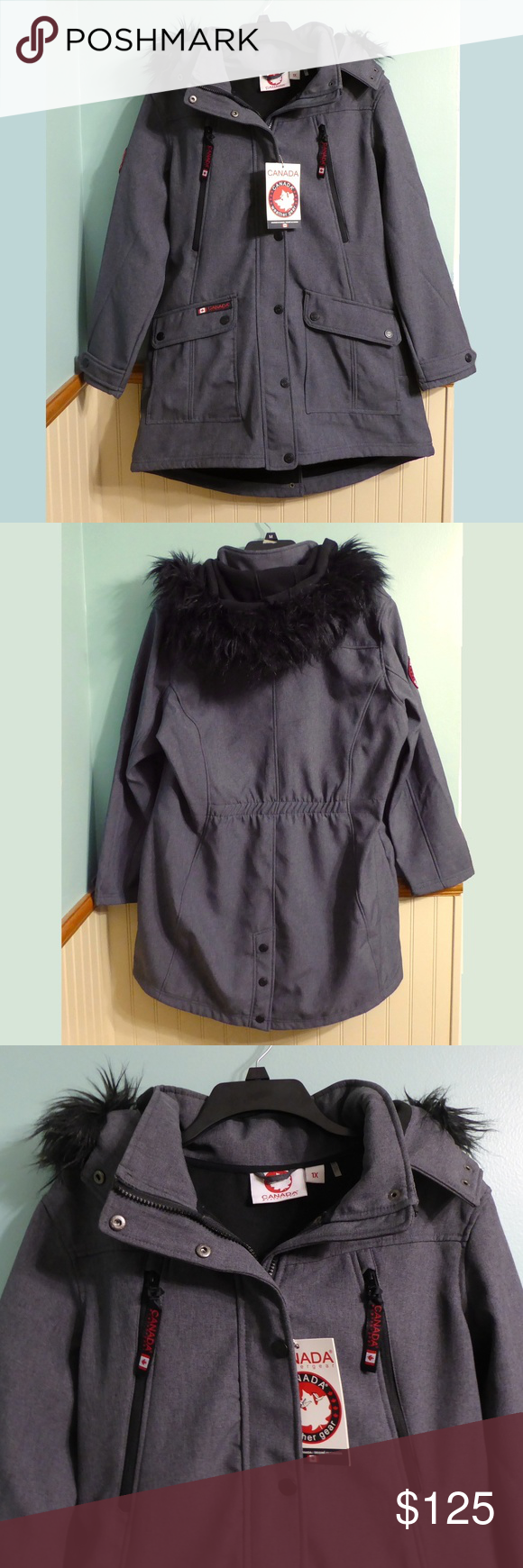 Nwt Canada Weather Gear Jacket 1x Charcoal Jacket Clothes Design Jackets For Women [ 1740 x 580 Pixel ]