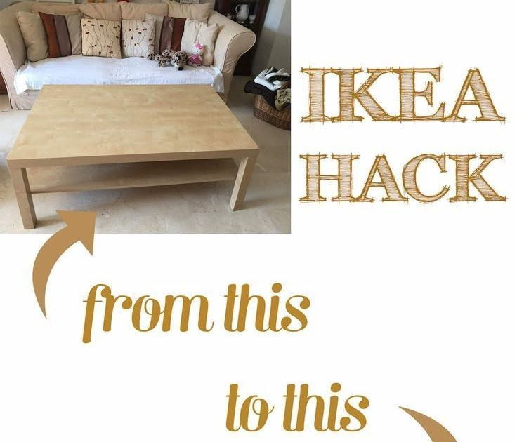 Ikea lack coffee table hack with some wood and dye ikea