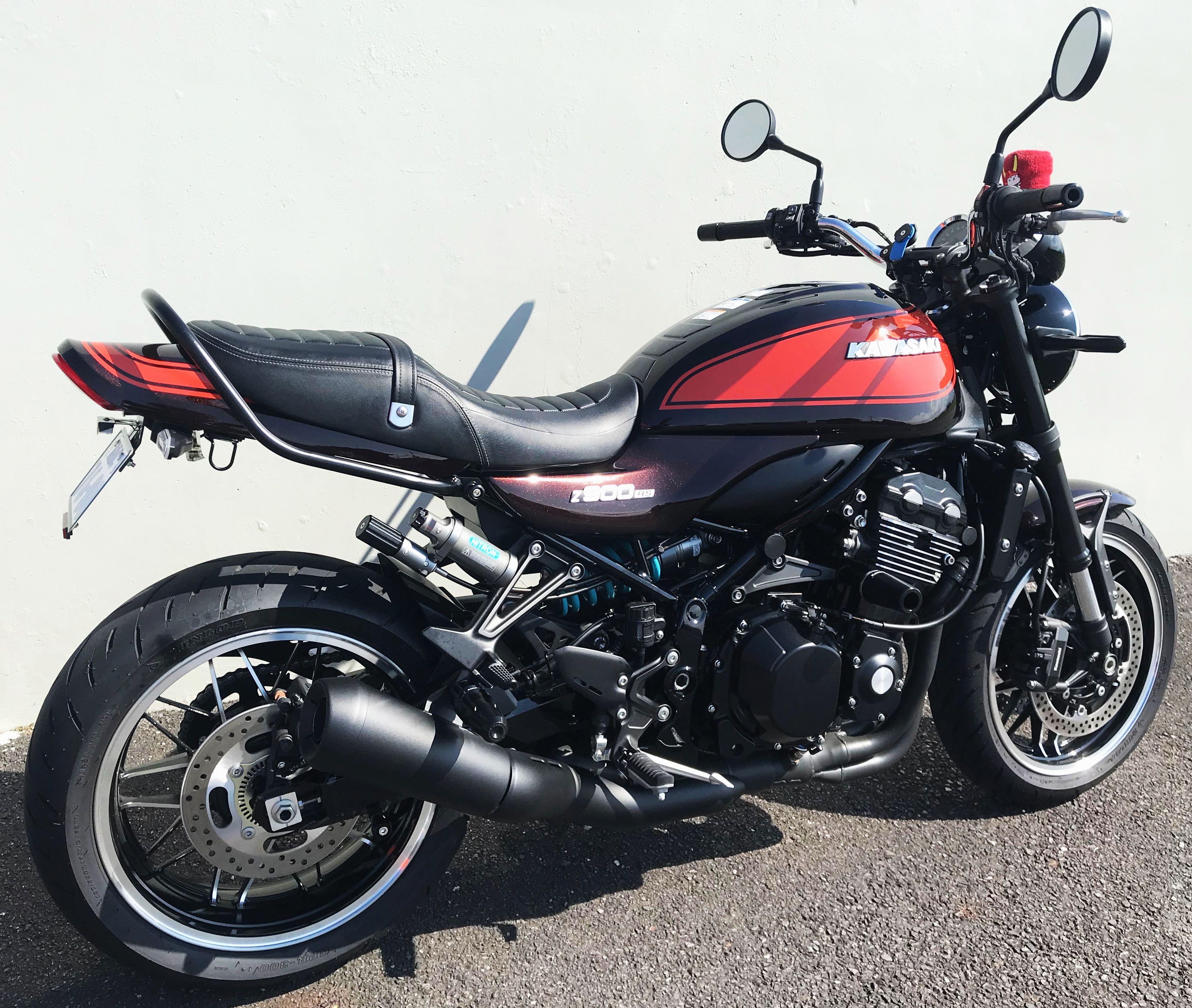 Z900 Rs Black Coat Muffler Exhaust バイク 車の塗装 カスタムバイク