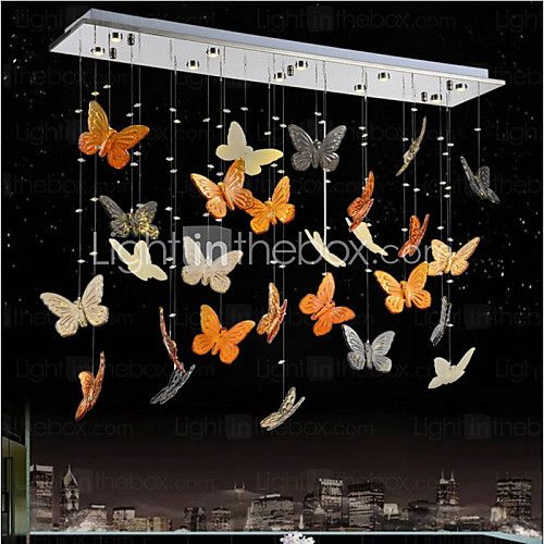 LED Living Room Dining Room Lamp Pendant Butterfly Crystal Lamp 2016 - $294.09