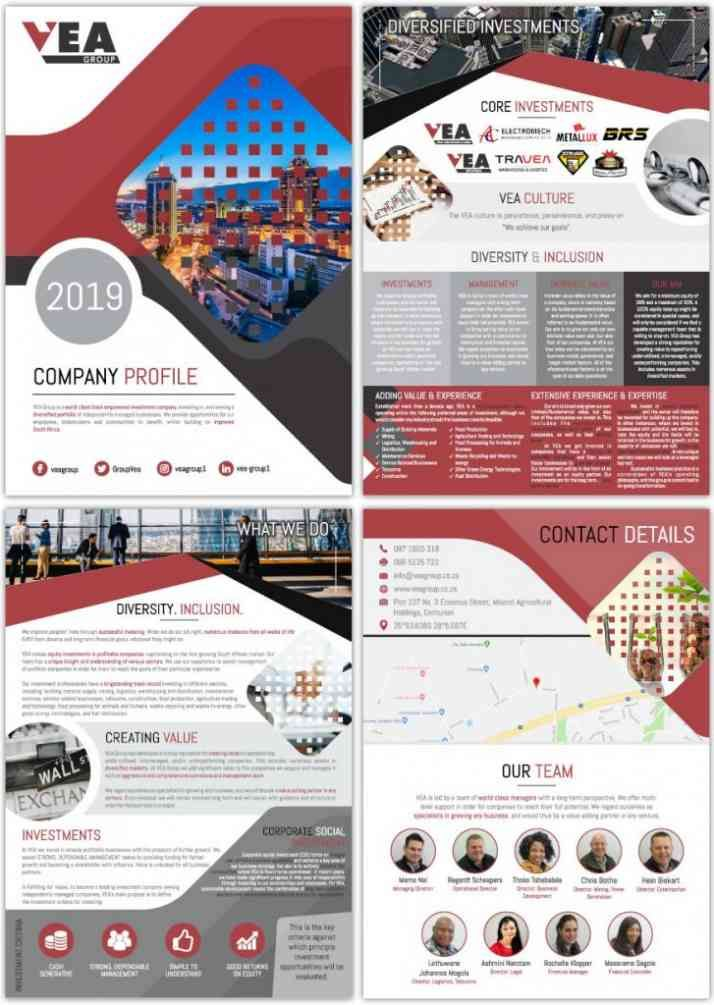 Company Profile Designers South Africa Order Yours Now Web Devine In 2020 Company Profile Design Company Profile Profile