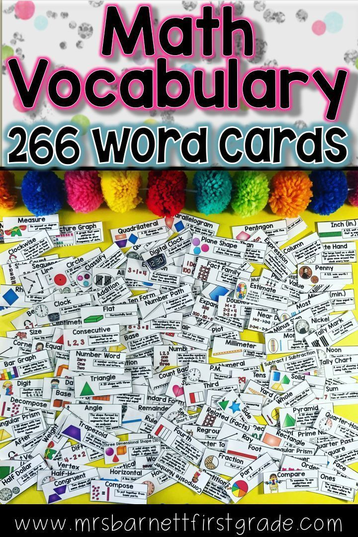 Math Vocabulary Word Wall  Math Vocabulary Wall Math Vocabulary