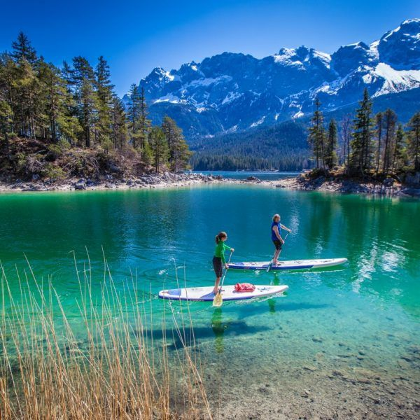 Photo of One of the most beautiful SUP spots in Germany: the Eibsee (© Starboard / FOTObyKL …