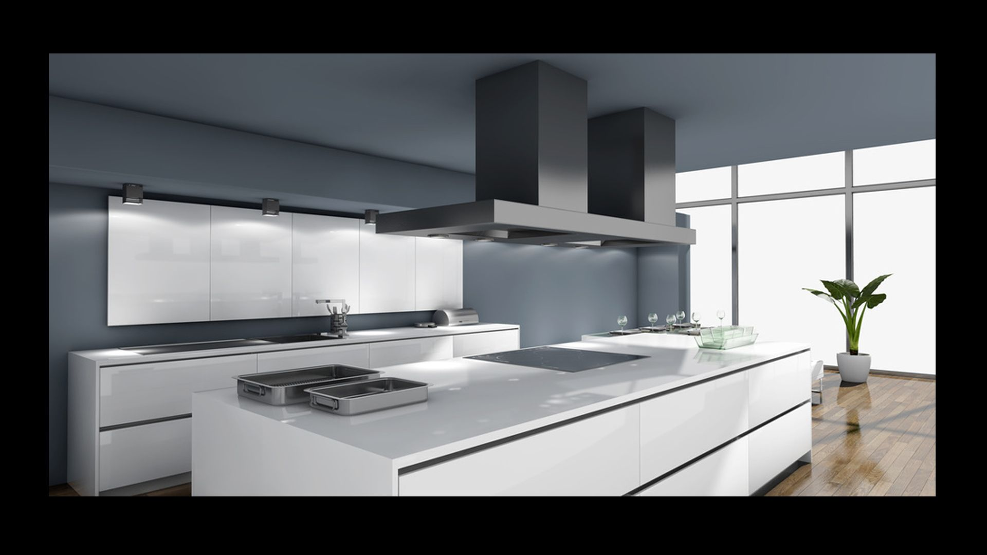 Ultra Nowoczesna Kuchnia Biała Home Sweet Home Kitchen Lighting
