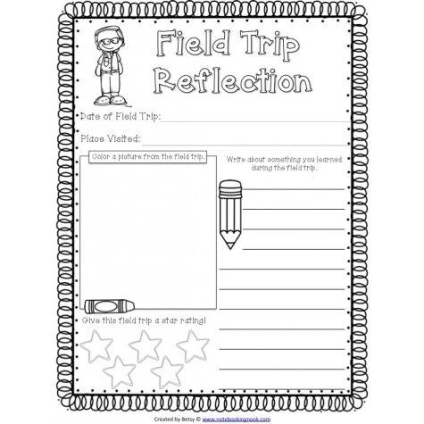 Free Field Trip Reflection Notebook 3 School Field Trip