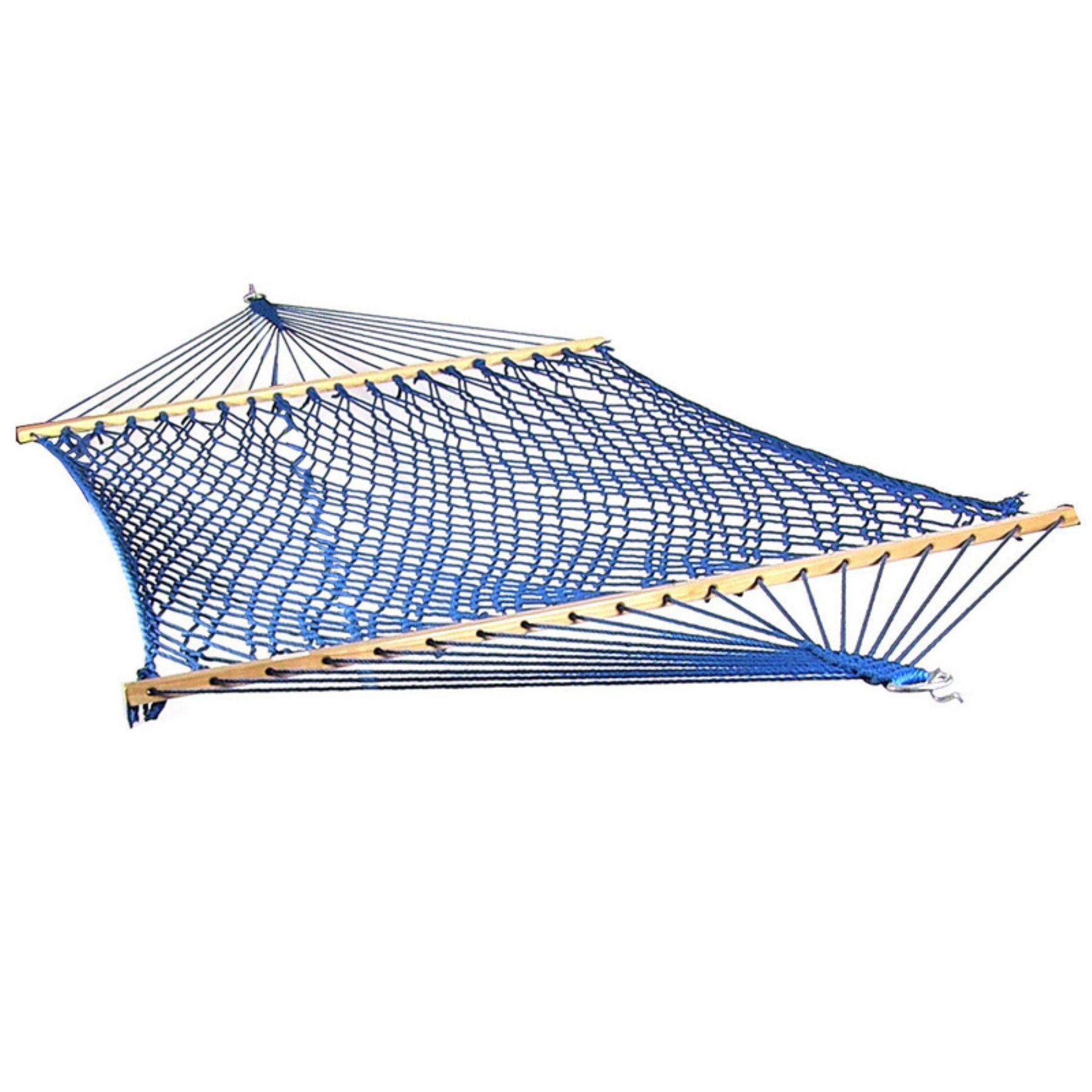 Sunnydaze decor extra large caribbean rope hammock with spreader