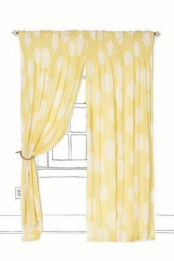 White Walls Gray Polka Dot Curtains