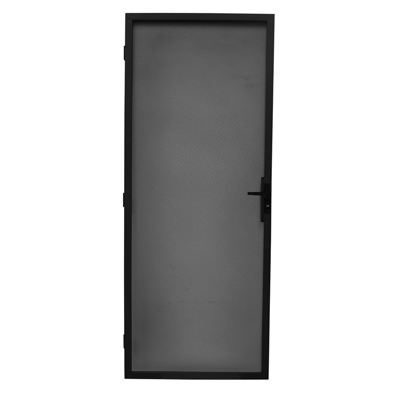Bastion 2032 X 813mm Black Contemporary Metric Steel Frame Screen Door Screen Door Security Screen Door Steel Frame