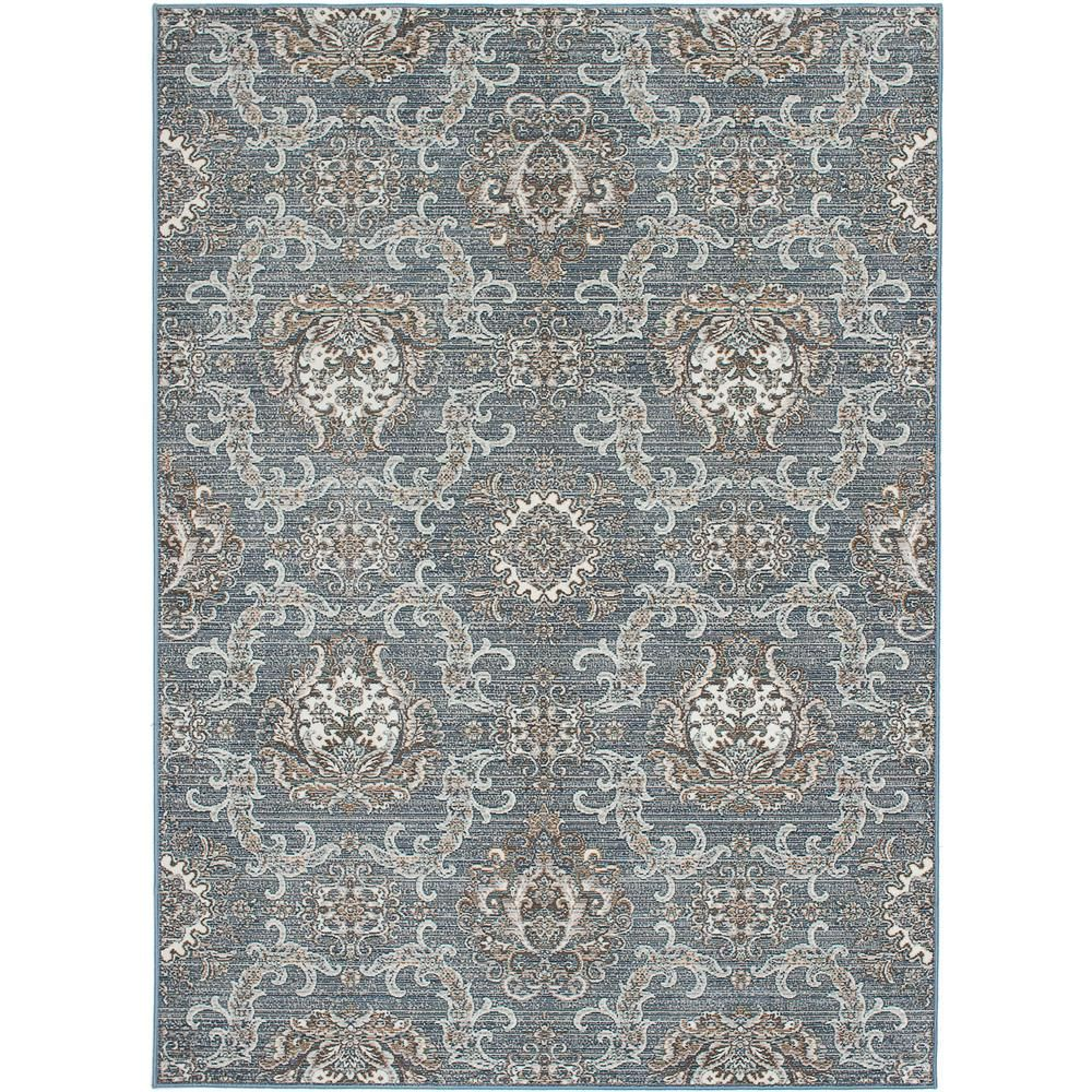 Paradis Blue 5 ft. 3 in. x 7 ft. 7 in. Area Rug