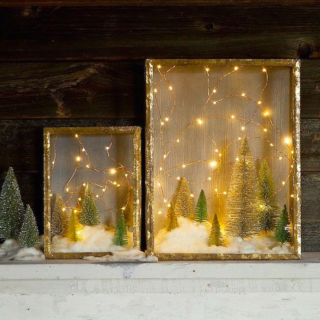 Make a festive shadow box with this easy tutorial.